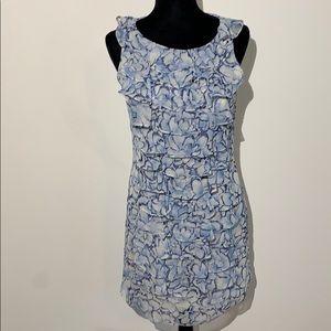 Adrianna papell 8 floral ruffle sleeveless dress